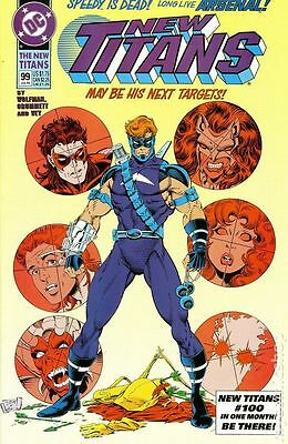 New Teen Titans (1984 2nd Series) New Titans #99 FN- 5.5 LOW GRADE