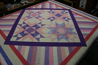"""Hand Made Quilt """"UNCONDITIONAL"""" Design by Quilt-Addicts 204cm square"""