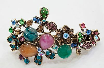 New fashion antique crystal rhinestone multi butterfly hair barrette clip 293j23