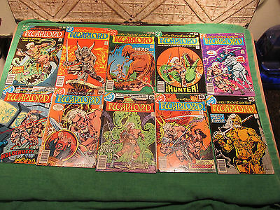 DC Comic Book Lot Warlord #10 to 19 Read Once And Put Up Very Good Look Close