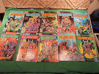 DC Comic Book Lot Warlord #20 to 29 Read Once And Put Up Very Good Look Close