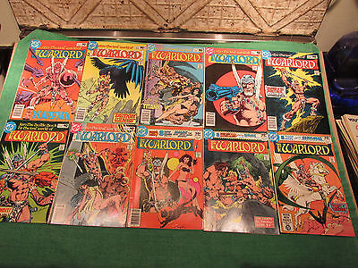 DC Comic Book Lot Warlord #30 to 39 Read Once And Put Up Very Good Look Close