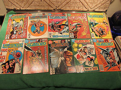 DC Comic Book Lot Warlord #50 to 59 Read Once And Put Up Very Good Look Close
