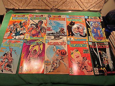 DC Comic Book Lot Warlord #60 to 69 Read Once And Put Up Very Good Look Close