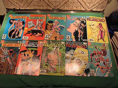 DC Comic Book Lot Warlord #70 to 79 Read Once And Put Up Very Good Look Close