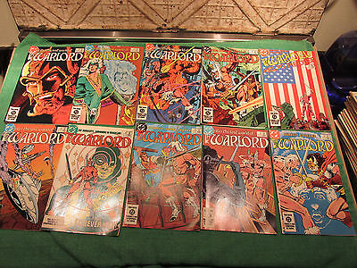 DC Comic Book Lot Warlord #80 to 89 Read Once And Put Up Very Good Look Close