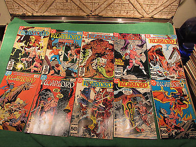 DC Comic Book Lot Warlord #90 to 99 Read Once And Put Up Very Good Look Close