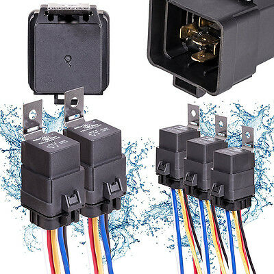 Waterproof Integrated Automobile Relay 12V DC 40A 5PIN AUTO FUSE RELAY & Socket