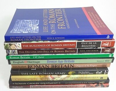 Lot of (10) ROMAN Army, Military, Buildings (Britain, Rome) Archaeology, History