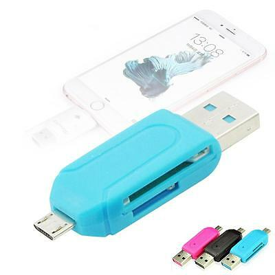 All in One Micro USB OTG Memory Card Reader Adapter for SD TF Phone + USB 2.0 B1