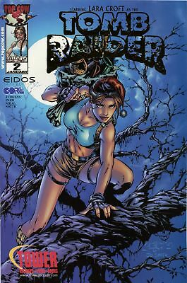 Tomb Raider : The Series #2 ~ Tower Records gold foil edition ~ Image Comics