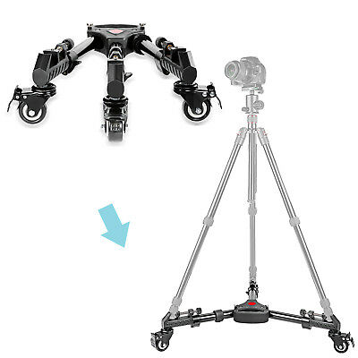 Neewer Professional Aluminum Alloy Adjustable Tripod Dolly with Rubber Wheels