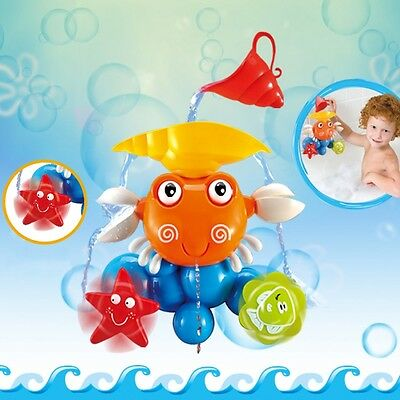 Cartoon Crab Children Bath Shower Sandybeach Kids Baby Summer Water Playing Toys