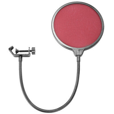 "Neewer 6"" Microphone Wind Screen Pop Filter Swivel Mount Mask Shied(Red Filter)"