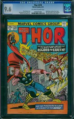 Thor # 233  World War Between Asgard and Earth !  CGC 9.6 scarce book !