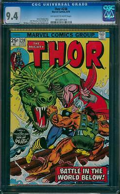 Thor # 238  Battle in the World Below !  CGC 9.4 scarce book !