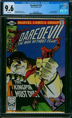 Daredevil # 170  The Kingpin Must Die !  CGC 9.6  scarce book !