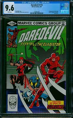 Daredevil # 174  Fighting an Army of Assassins !  CGC 9.6  scarce book !