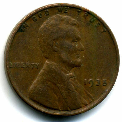 1935 P Wheat Penny 1 Cent Key Date Us Circulated One Lincoln Rare Coin#1663