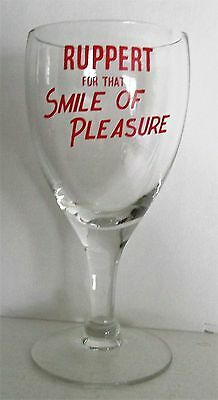 Ruppert Brewing Co New York NY RUPPERT FOR THAT SMILE OF PLEASURE Beer Glass