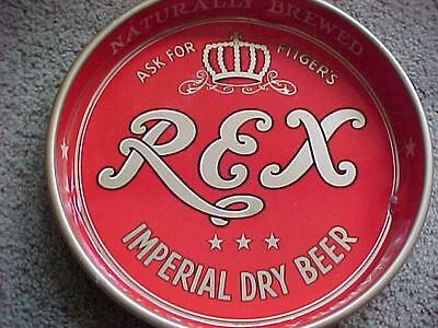Vintage Fitger's REX Imperial Dry Beer Serving Tray Red & Gold Duluth MN 1948