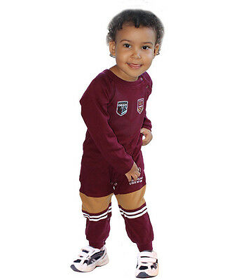 NRL Toddler Baby Queensland State of Origin Footysuit Jumpsuit Unisex