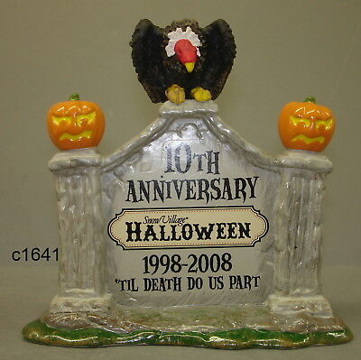 Dept 56 Snow Village Halloween 10th ANNIVERSARY SIGN new in box