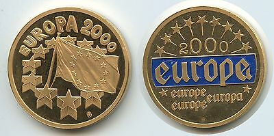 GY320 - Medaille Europa 2000 Farbauflage