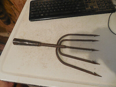 Old Fish Spear 5 Prong Vintage Antique Pike