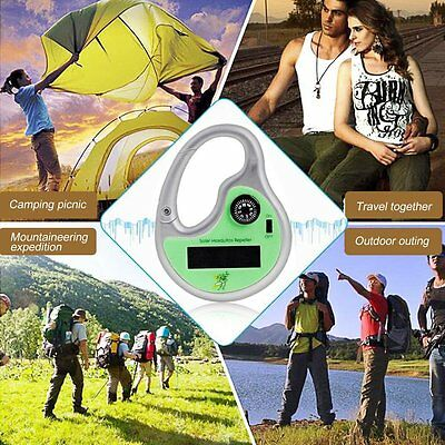 Portable Mosquito Insect Ultrasonic Killer Hook Type Solar Power Compasses G XH