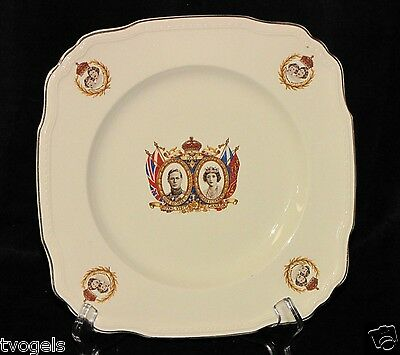 Vintage Alfred Meakin Porcelain Canada Royal King George VI Astoria Shape Plate