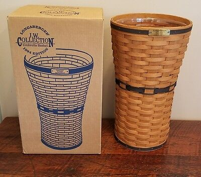 94 Longaberger JW Collection Umbrella Basket with Protector n box FREE SHIPPIING