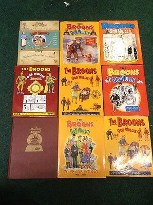 Large Collection of 9  'The Broons / Oor Wullie'  Books Annuals Joblot