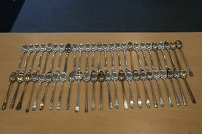Lot of 51 Silverplate Long Spoons ARTS CRAFTS ELSIE