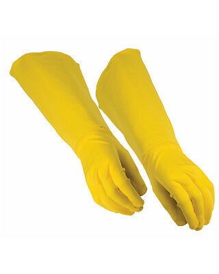 Adults Be Your Own Superhero Super Hero Yellow Gauntlet Gloves Costume Accessory