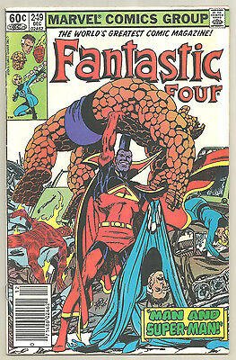 Fantastic Four 4 # 249 Marvel Comics 1st Appearance Henkor Gladiator Skrulls
