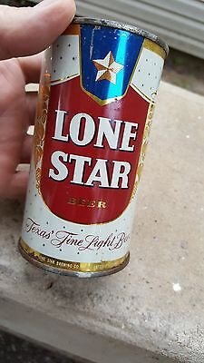 1950s white Lone Star Flat Top Beer Can,,CCC Continental Can Company