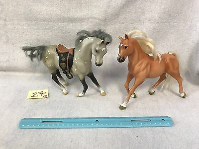 Lot Of 2 1996 Grand Champion Empire Horse Colt Tan Brown & Gray Horses 7""