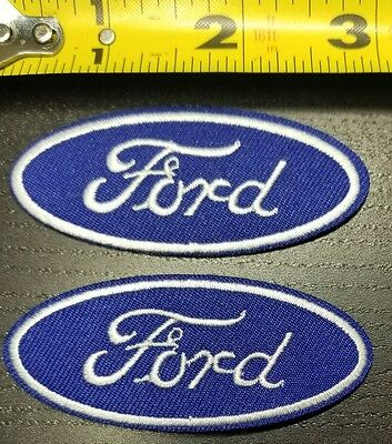 "Lot of 2 Ford Automotive Racing 2 7/8"" Iron/Sew on Patch FREE SHIPPING FROM U.S."