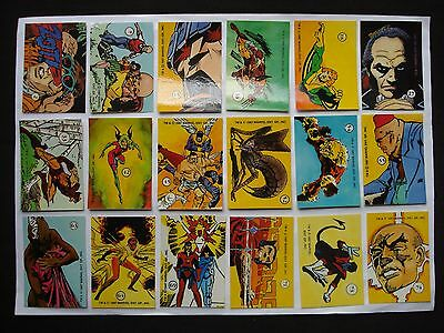 1987 Comic Images Marvel *history Of The X-Men* Sticker Lot Of 18 *rare**