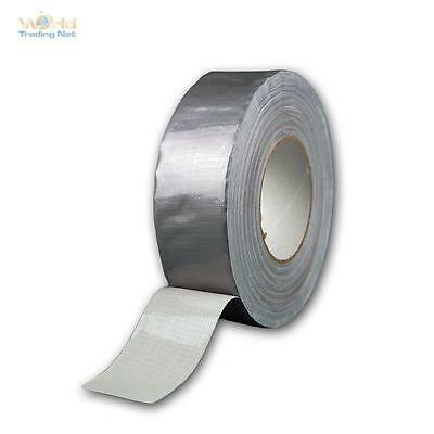 (0,13 €/ M) Woven Tape 100m x 48mm Silver Tape Repair Tape