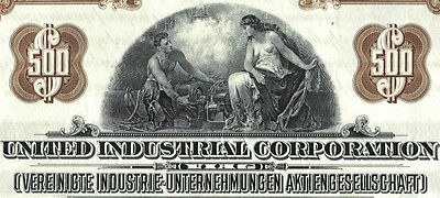 VIAG USA Bond Gold Anleihe 1925 United Industrial Corp. E.on Düsseldorf Germany