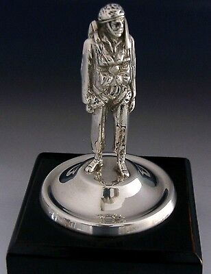 INTERESTING SILVER PARACHUTE MILITARY FIGURE c1950 MILITARY ANTIQUE