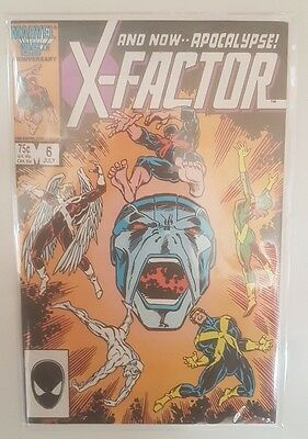 X-Factor #6 - Nm/vg+ - 1St Apocalypse - Marvel Comics