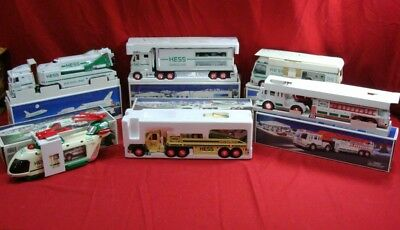 6 Vintage 1998-2003 Hess Trucks Cars Motorcycles Helicopters Planes Rv W/boxes