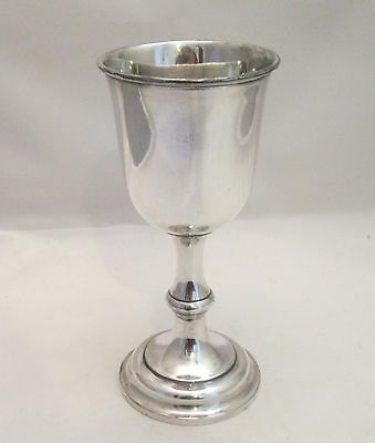 A Fine Silver Plated Antique Communion Chalice / Goblet - c1880 Sheffield