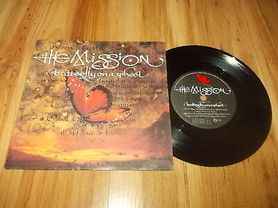 "The Mission-Butterfly on a wheel-7"" single 1990"