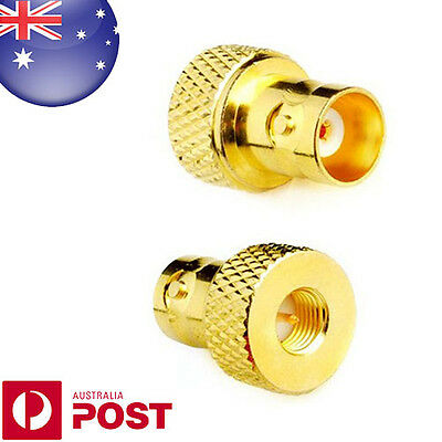 1 x Gold Plated SMA Male to BNC Female Connector RF Coaxial Coax Adapter - Z613
