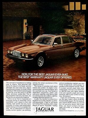 1981 Jaguar XJ6 Series III car photo vintage print ad