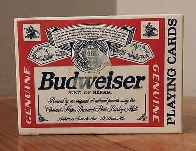 Budweiser Playing Cards 100% Complete #350 Made in the USA Plastic Coated NICE!